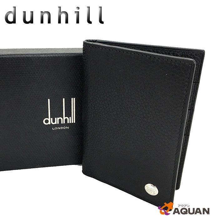 ダンヒル dunhillカードケース 名刺入れボストン BOSTONL2W347A レザー ブラックメンズ 男性用 財布【美品】【中古】dunhill 財布小物 aq823
