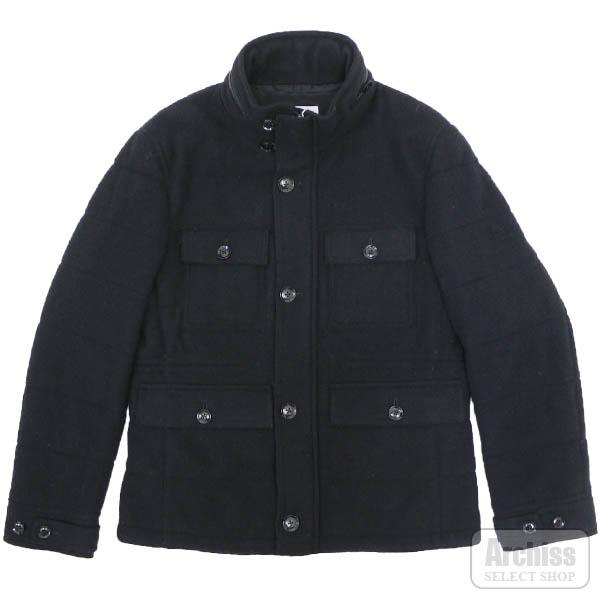 プリングル1815 PRINGLE 1815 ブルゾン M65型 スタンドカラー ジャンパー 黒 ブラック 起毛 メルトン 中綿入り 40サイズ L相当 S1F33-214-09S54005