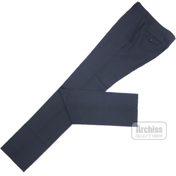 エポカウォモ EPOCA UOMO スラックス パンツ 濃紺 ネイビー 織り柄 春夏 ノータック 春夏 44サイズ 46サイズ M1Q51-700-29S50424・25