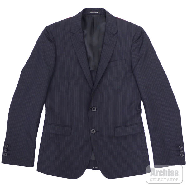 ニコル NICOLE HIDEAWAYS ジャケット 濃紺 オルタネイト ストライプ 背抜き 2ボタン 46サイズ メンズ 2165-2532-67S42524
