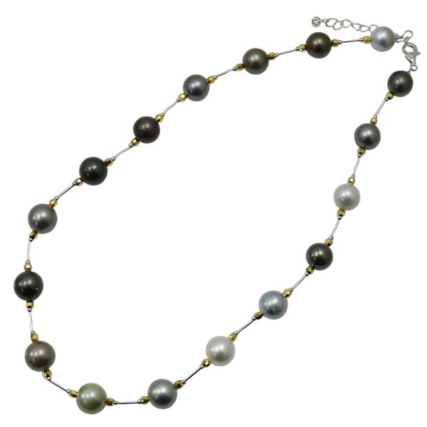 黒蝶真珠 パール ネックレス 黒真珠 マルチカラー デザイン 送料無料 カジュアル ステーション