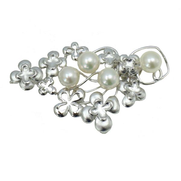 真珠 パール ブローチ アコヤ真珠 ブローチ あこや真珠 7mm-7.5mm 真珠 ペンダント 2ウエイ パール タイタック パール 真珠 ムーンストーン