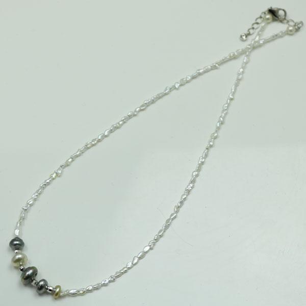 真珠 パール ネックレス アコヤ真珠 白蝶真珠 南洋真珠 黒蝶真珠 ケシパール マルチカラー ネックレス あこや真珠