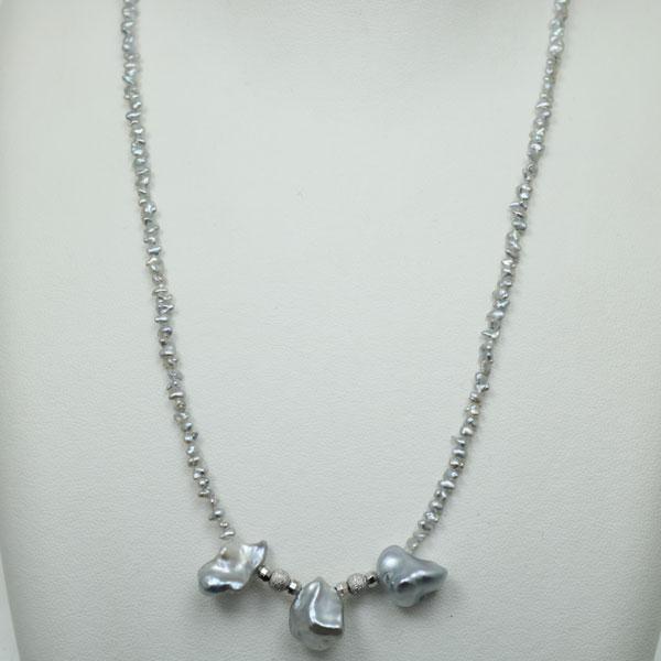 南洋ケシパール & アコヤケシパール ファッション 白蝶真珠 南洋真珠 ケシ パール ネックレス