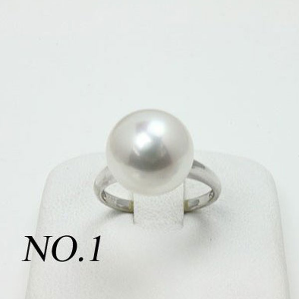 真珠 指輪 パール リング 南洋白蝶真珠 パール 指輪 リング 11mm ホワイトカラー