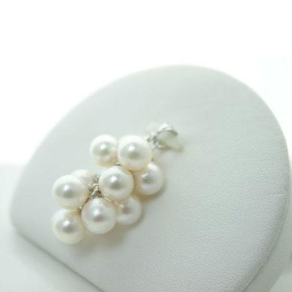 真珠 パール ペンダント あこや真珠 パール ペンダント 7mm-7.5mm 13pcs ホワイトピンクカラー バロックパール シルバー アコヤ本真珠 カジュアル ブドウ型