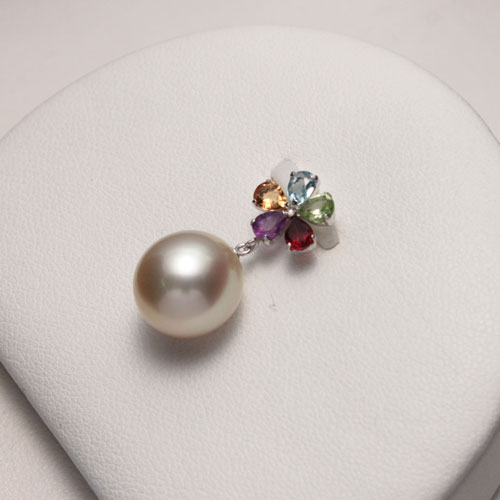 Shinjupa rusemmonten arielpearl rakuten global market pearl pearl south sea white pearl 109 mm pearl cream pink shades is the volume of south sea pearls aloadofball Gallery