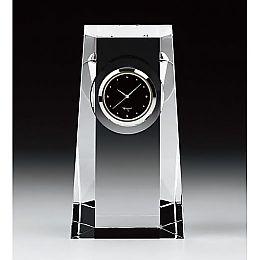 カガミクリスタル時計:Q428【名入彫刻】