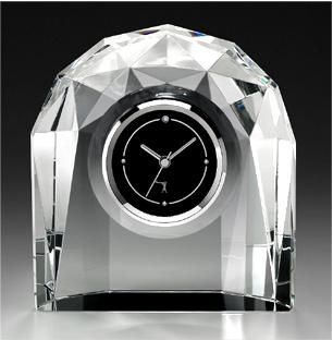 カガミクリスタル時計:Q435【名入彫刻】