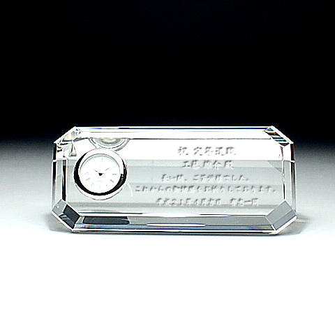 ソフィアクリスタル時計:SDT-008【名入彫刻込】