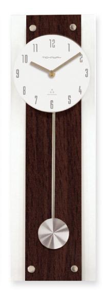 スタンダード電波振り子時計ST*ブラウン*エッチング*【名入彫刻】