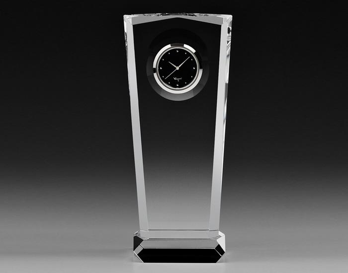 カガミクリスタル時計:Q458【名入彫刻込】
