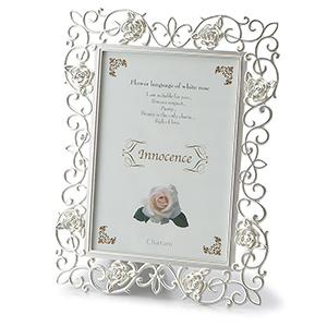 Weddingフォトフレーム★ミラーに彫刻★≪特別価格≫*ローズガーデン【名入彫刻込】