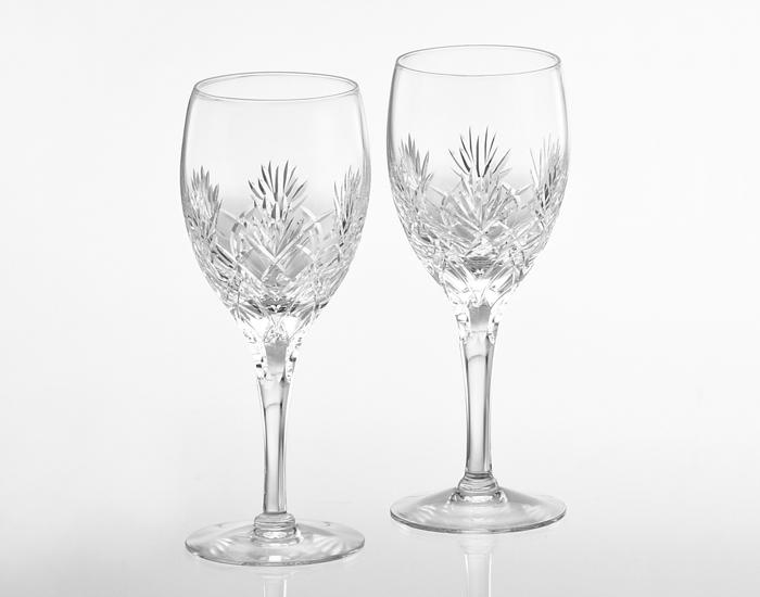 カガミクリスタル ペアワイングラス<ボナール>【名入れ彫刻】