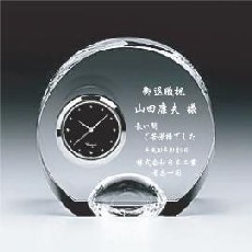 カガミクリスタル時計:Q425 クリスタルクロック【名入れ彫刻込】<限定SALE>