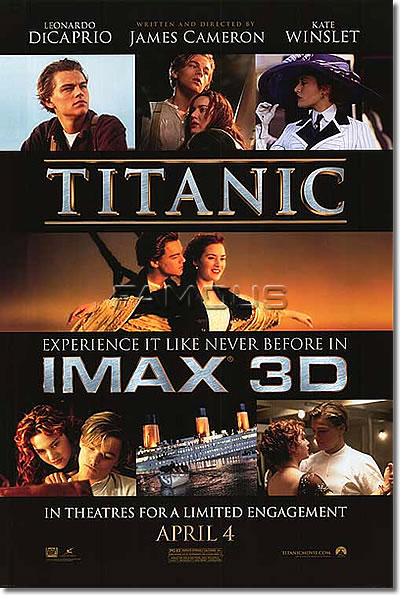 限定価格セール! 【映画ポスター/IMAX 3D】タイタニック 3D (レオナルドディカプリオ) 3D-DS/IMAX 3D-DS, オウミチョウ:38c90f45 --- fabricadecultura.org.br