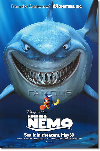 【映画ポスター】ファインディングニモ ディズニー グッズ (アルバートブルックス) /サメと魚 ADV-DS