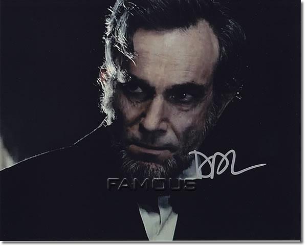 【直筆サイン入り写真】 ダニエルデイ=ルイス (リンカーン/エイブラハムリンカーン役 映画グッズ)