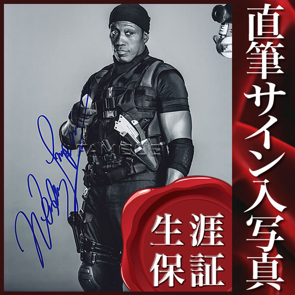 【直筆サイン入り写真】ウェズリー・スナイプス (エクスペンダブルズ3 映画グッズ)