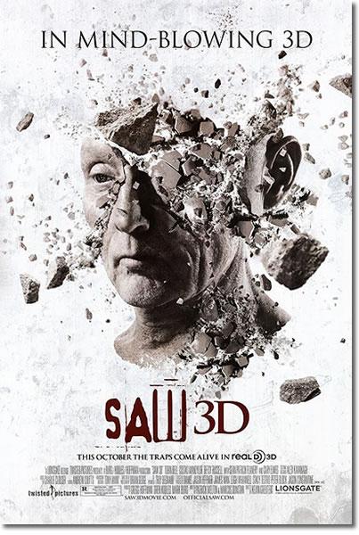 【映画ポスター】 SAW ソウ ザファイナル 3D (トビンベル) /頭 DS