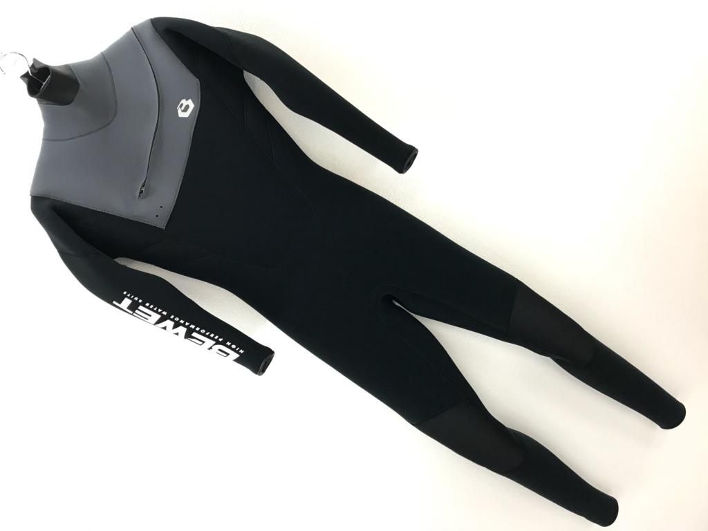 FREE SHOULDER WET SUITS 3×3mm (サイズ M) ビーウェット サーフィン フルスーツ チャコール