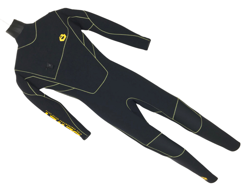 サーフィン ビーウェット 2018 Be Wet BEWET FREE SHOULDER WET SUITS 3mm サイズ ML ブラック/イエロー
