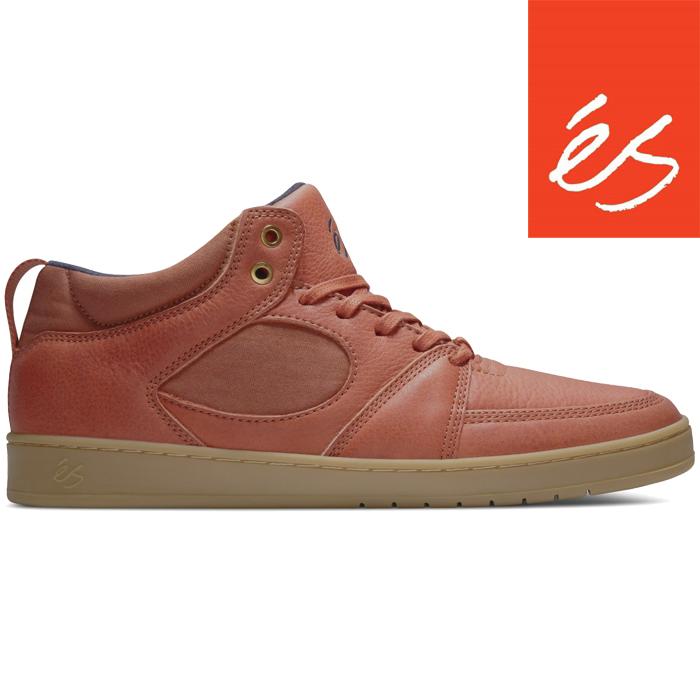 スケートボード シューズ スニーカー 靴 エス アクセル スリム ミッド レザー 2017 'es Accel Slim Mid Leather BROWN GUM GOLD7fyYb6gv