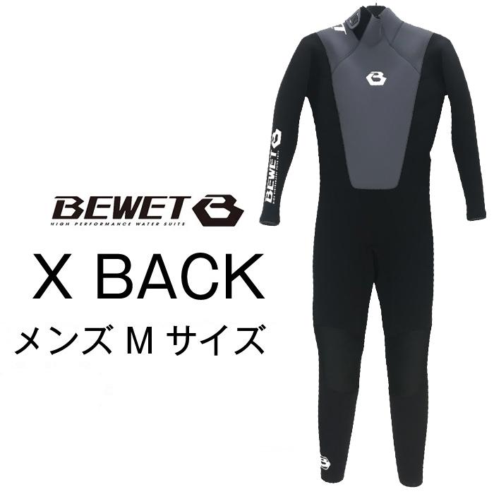 BEWET X BACK WET SUITS 3×3mm ビーウェット サーフィン フルスーツ チャコール