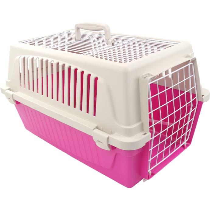 送料無料 犬 猫 キャリーバッグ コンテナ アトラス20ELオープン桃 ファープラスト ペット用品 通院 旅行 に便利なハードキャリーケース Fa9035