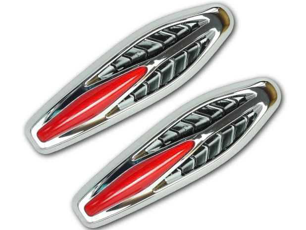 LEDサイドマーカーダミーダクト裏面両面テープで貼付簡単設置 sale BMW M3風LEDサイドマーカー(ダミーダクト)レッド左右分 明るいLEDサイドマーカー 取付簡単なLEDサイドマーカー 貼付式LEDサイドマーカー as1036