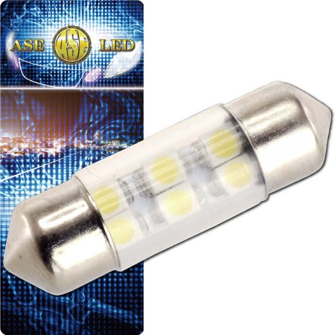 返品送料無料 枕型でコンパクト ルーム球 ドアランプ 割引 ナンバー灯に最適 6連LEDルームランプT10X31mmホワイト1個 高輝度LED ルームランプ 汎用LED as162 明るいLED