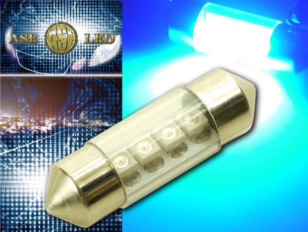 枕型でコンパクト 新登場 ルーム球 信用 ドアランプ ナンバー灯に最適 4連LEDルームランプT10X31mmブルー1個 爆光LEDルームランプ as371 高輝度LEDルームランプ 明るいLED ルームランプ