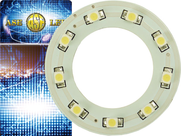 バイク用LEDイカリング SMDタイプ 使い方色々 バイク用9連LEDイカリングSMDタイプ直径40mmホワイト1個 高輝度LED 爆光LEDイカリング イカリング 商舗 明るいLEDイカリング as442 通信販売