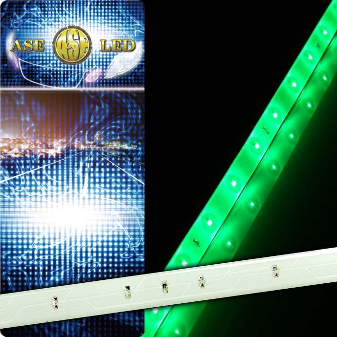 裏側両面テープで好きなところに貼りつけて簡単設置可能 LEDテープ30連60cm 海外 ランキング総合1位 白ベース正面発光LEDテープグリーン1本 切断可能なLEDテープ 防水LEDテープ as12234
