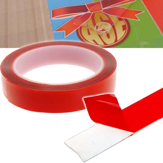 透明クリアで目立たない両面テープ 超人気 強力粘着で色々使える 透明両面テープ 強力粘着 長さ約3m幅50mm 車内 ガラス 車外に最適両面テープ クリア厚手 as1747 実物