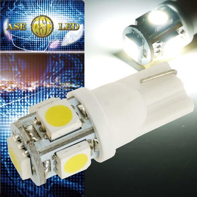 アクア AQUA G's H26.12~ に使える フロント用ルーム球 アクア G's ルームランプ T10 LED 5連砲弾型 ホワイト1個 AQUA G's H26.12~ NHP10 フロント ルーム球 as02