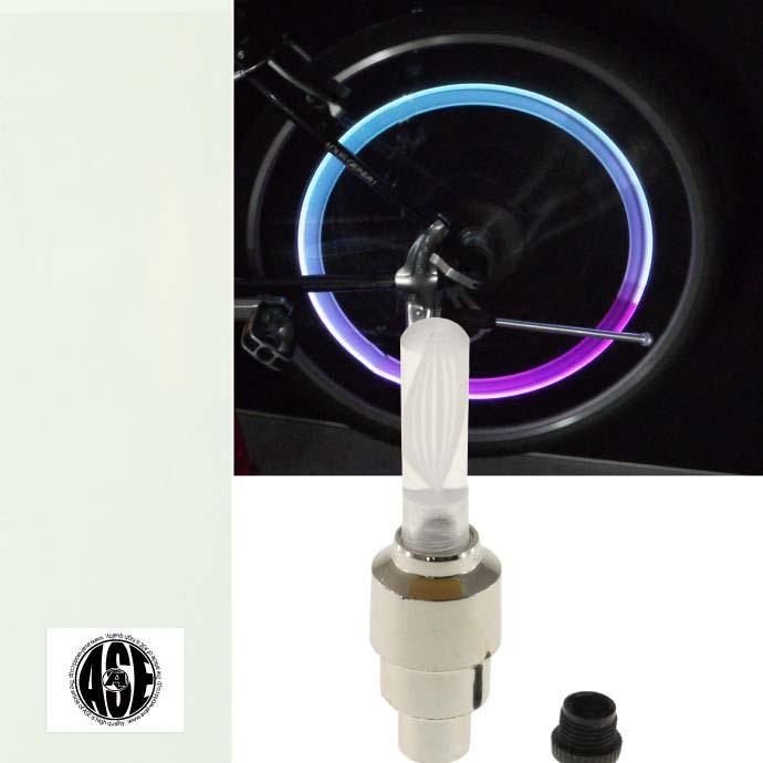 光るタイヤバルブキャップ 即納最大半額 走ると光の輪のような感じ 自転車タイヤバルブキャップLEDライトRGB1個 動くと光る 綺麗な光自転車LEDライト 明るい自転車LEDライト 夜間も安全自転車 迅速な対応で商品をお届け致します ライト LED as20026