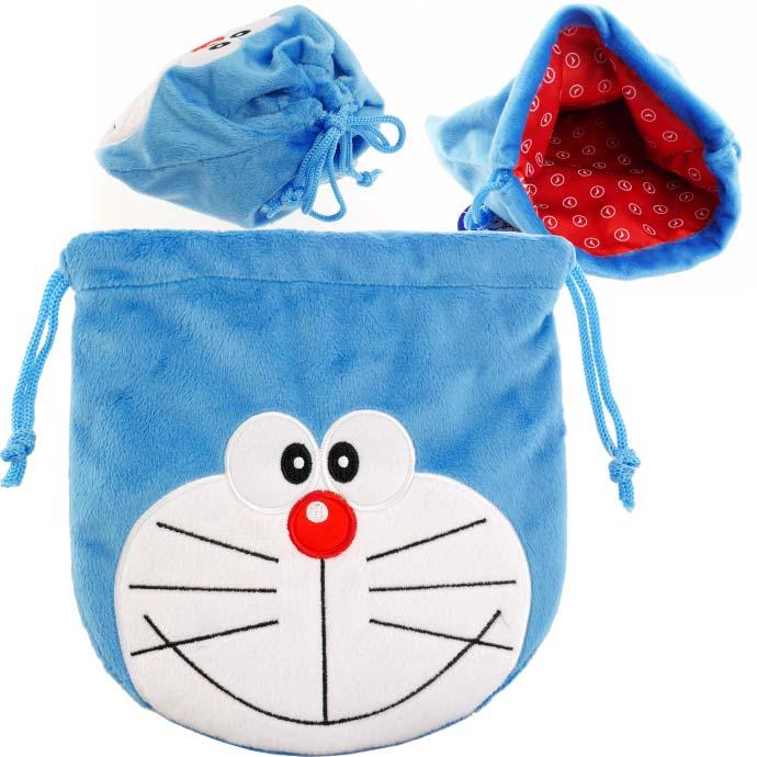 激安 さわり心地抜群に気持ちいい生地 財布 小物 色々使える便利な袋 ドラえもん 巾着袋 キャラクターグッズ コインケース 春の新作シューズ満載 ドラエモン 小物入れにも最適 色々使える巾着袋 Un012