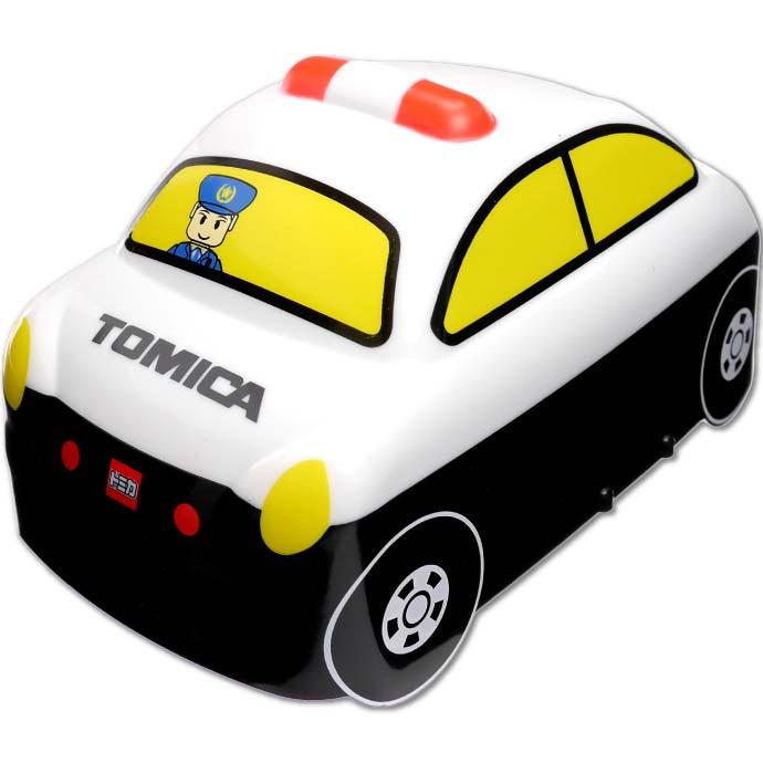 容量360ml パトカーの形のお弁当箱 2段式 ゴムベルト付 評判 トミカ パトカー 立体弁当箱 キャラクターグッズ カワイイ弁当箱 ランチボックス Sk472 DLB4 TOMICA 売れ筋 360ml