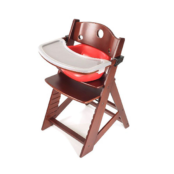 キーカルー Wooden High Chair Mahogany And Cherry Keekaroo High Chair Set Fs3gm
