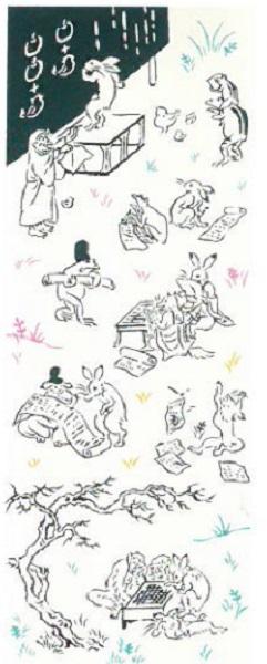 伝統的な型染めの一種 安心と信頼 注染 で作られた手ぬぐい 日本製 2枚以上で送料無料 宮本 送料無料キャンペーン kenema -けねま-注染手ぬぐい鳥獣戯画-学校 対策 in 手作り 予防 Made NEW202004 Japan 数量は多 マスク