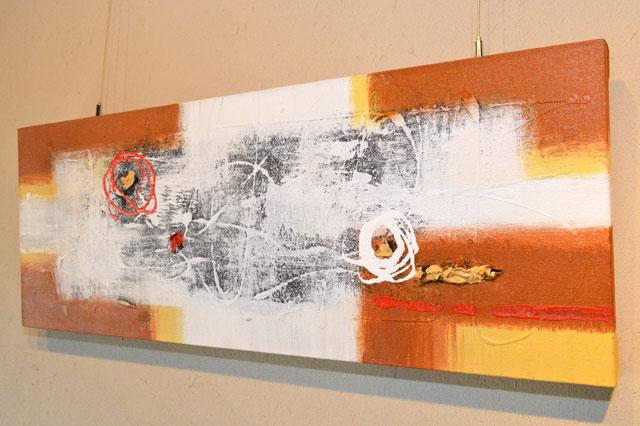 アートパネル 80×30cm 28 【 絵画 インテリア 絵 壁掛け おしゃれ 北欧 モダン アート ファブリックパネル バリ絵画 バリ アジアン 雑貨 抽象画 】