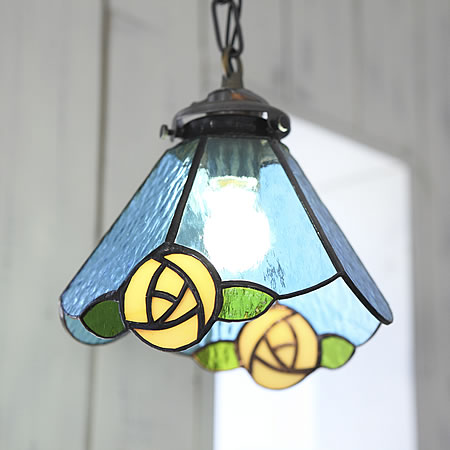 Auc askm rakuten global market stained glass pendant lights stained glass pendant lights bluerose blue rose handmade stained glass antique pendant lights made japan stained glass brass pendant light 60 w retrostend aloadofball Image collections