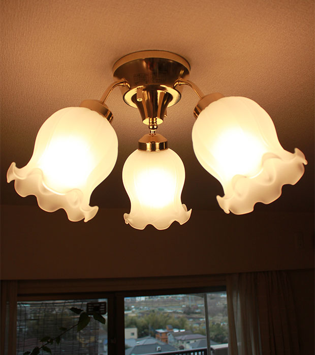 3 Light Gl Ceiling With Muguet 180 W Living Dining Moving New Construction Remodeling Antique Clic European Retro Modern Interior