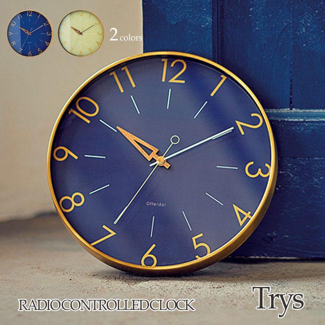 壁掛け電波時計 Trys トゥリス インターフォルム INTERFORM CL-3849 アナログ おしゃれ ウォールクロック 掛け時計 おしゃれ 見やすい おすすめ クラシック レトロ 店舗 新築祝い シンプル 洋風 リビング ダイニング 一人暮らし