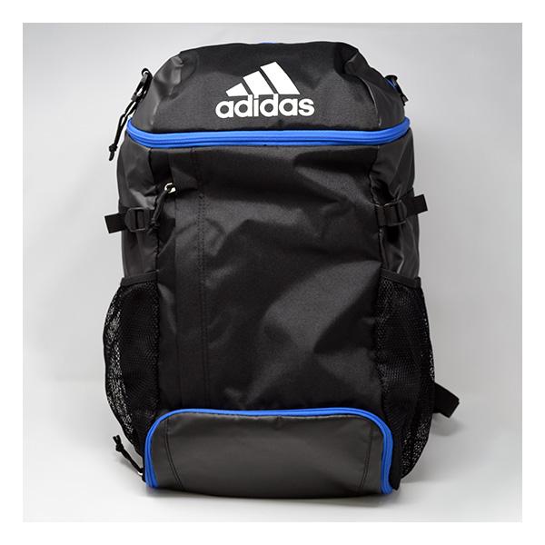 この表記があるアディダス商品を1度に8000円以上購入でノベルティプレゼント/ [adidas]アディダス バッグ4号球ボール専用バックパックジュニア リュック デイパック数量限定商品(ADP31BKB)ブラックブルー
