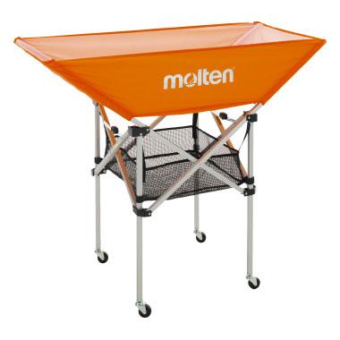 [molten]モルテン折りたたみ式平型ボールカゴ 背高103cm4点セット(フレーム・幕体・小物ネット・キャリーケース)(BK0033-O)オレンジ