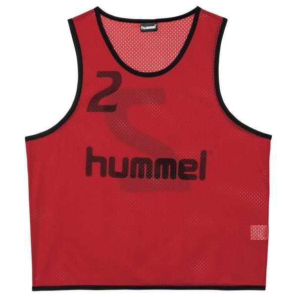 送料無料(※沖縄除く)[hummel]ヒュンメルトレーニングビブス(HAK6006Z)(21)チリペッパー