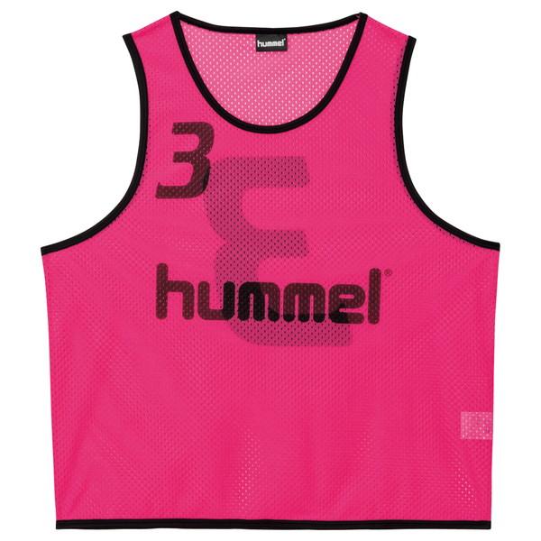 送料無料(※沖縄除く)[hummel]ヒュンメルジュニアトレーニングビブス(HJK6006Z)(25)ピンク