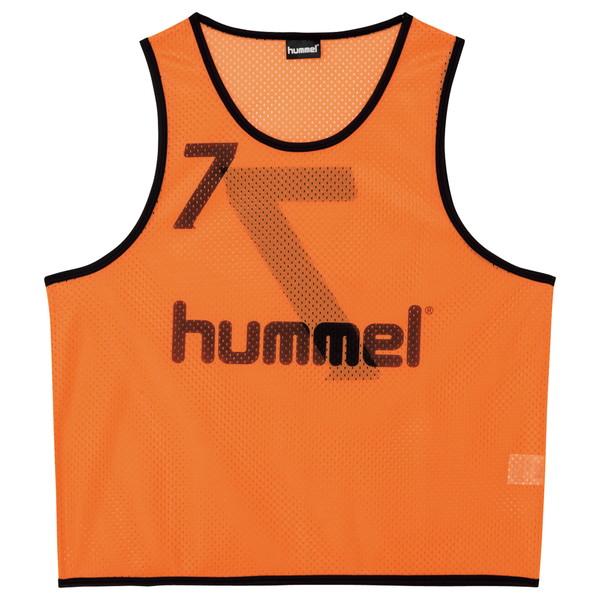 送料無料(※沖縄除く)[hummel]ヒュンメルジュニアトレーニングビブス(HJK6006Z)(35)オレンジ